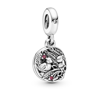 Bird & Mouse Hanging Charm