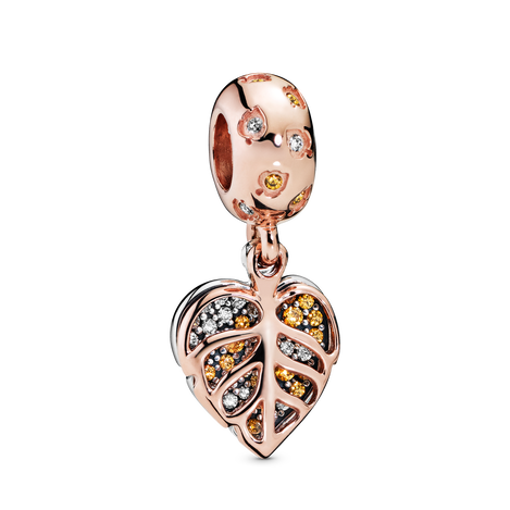Pandora Rose Sparkling Leaves Hanging Charm