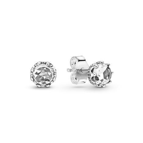Sparkling Crown Stud Earrings