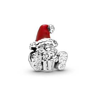 Seated Santa Claus and Present Charm