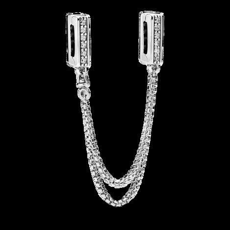 Pandora Reflexions Sparkling Safety Chain Clip Charm