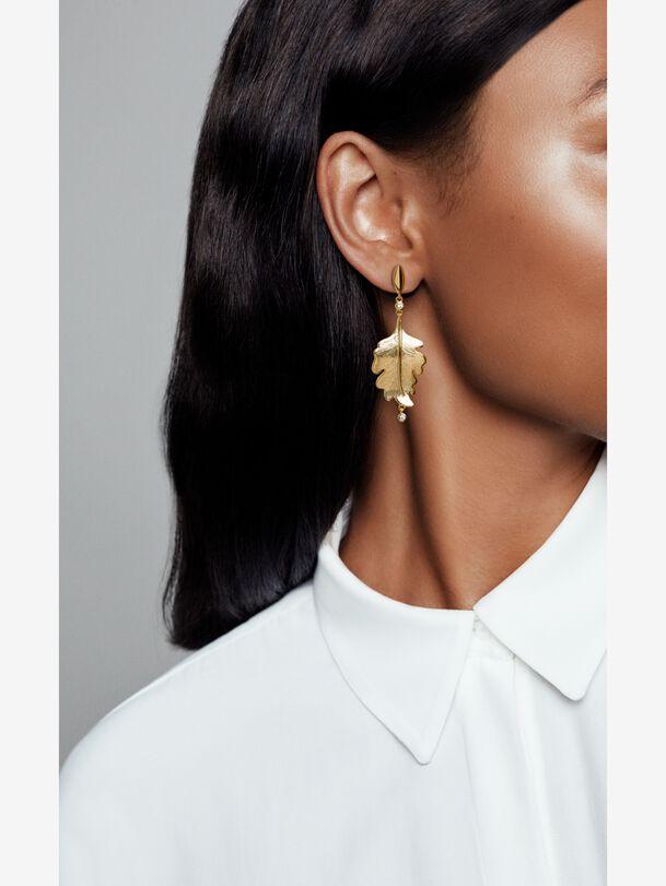 Pandora Shine Oak Leaf Earrings