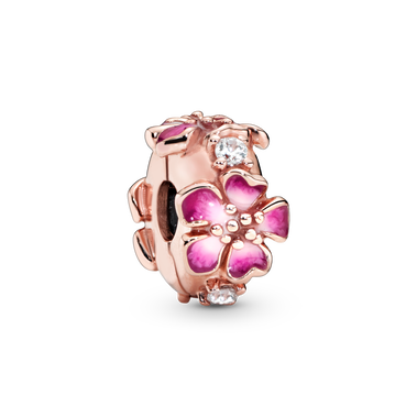 Pink Peach Blossom Flower Clip