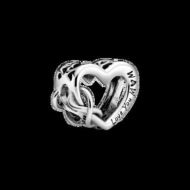 Love You Mum Infinity Heart Charm