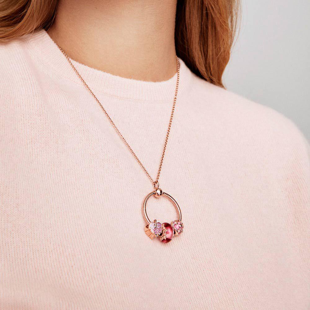 collier pandora rose