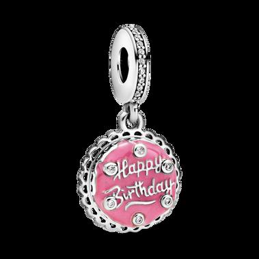 Pink Birthday Cake Dangle Charm