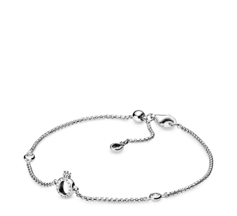 Sparkling Crown O Chain Bracelet