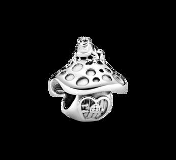 Mushroom & Frog Charm