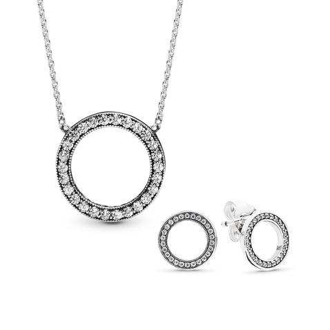 Forever PANDORA Necklace and Earring Gift Set