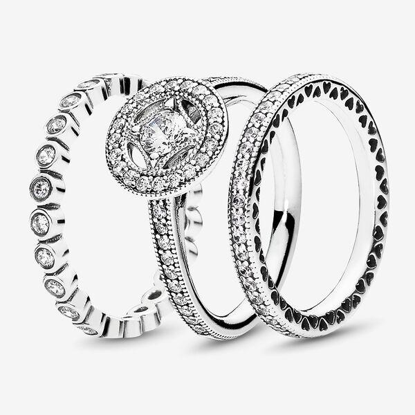Vintage Allure Ring Stack Pandora E Store