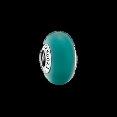 Matte Green Murano Glass Charm