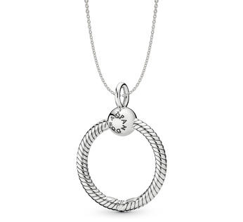Silver O Carrier Necklace Gift Set