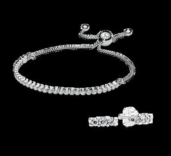 Sparkling Strand Bracelet and Earring Gift Set