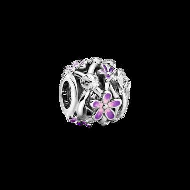 Openwork Purple Daisy Charm