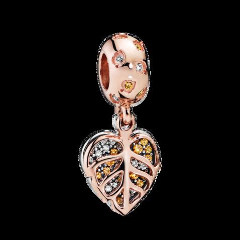 Pandora Rose Sparkling Leaves Hanging Charm