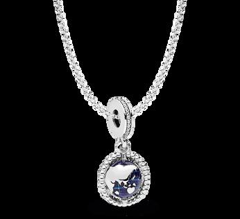 Spinning Globe Necklace Gift Set