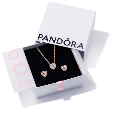 Elevated Heart Necklace & Earring Gift Set