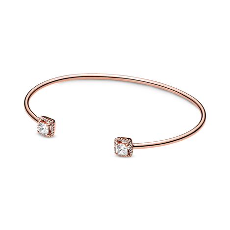 Square Sparkle Open Bangle