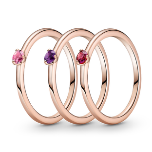 Heartfelt Hues Solitaire Ring Stack