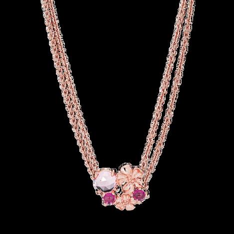 Pandora Rose Peach Blossom Flower Necklace