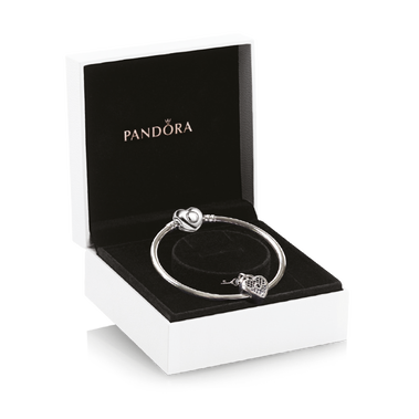 Love You Lock Silver Charm & Bangle Gift Set