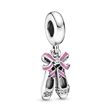 Pink Ballerina Shoes Hanging Charm