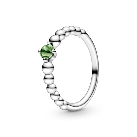 Spring Green Beaded Ring