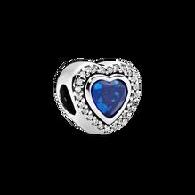 Sparkling Blue Heart Charm