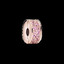 Pink Pavé Clip