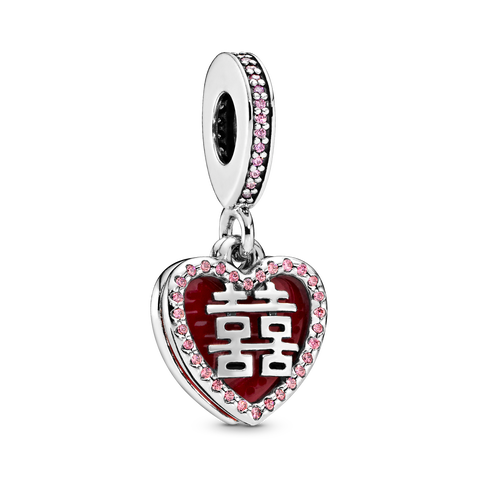 Chinese Double Happiness Dangle Charm