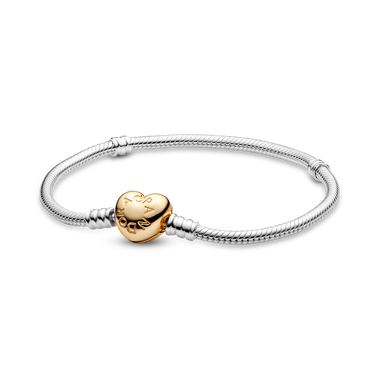Pandora Moments Heart Clasp Snake Chain Bracelet