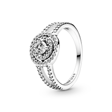 Sparkling Double Halo Ring