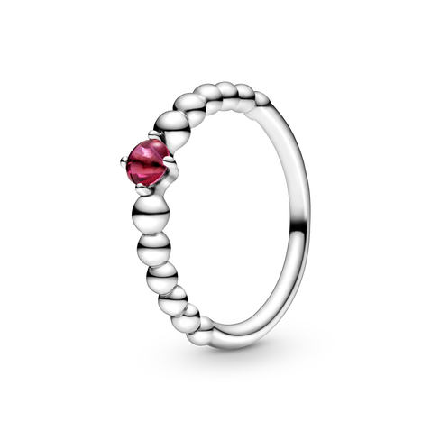 Passionate Red Beaded Ring