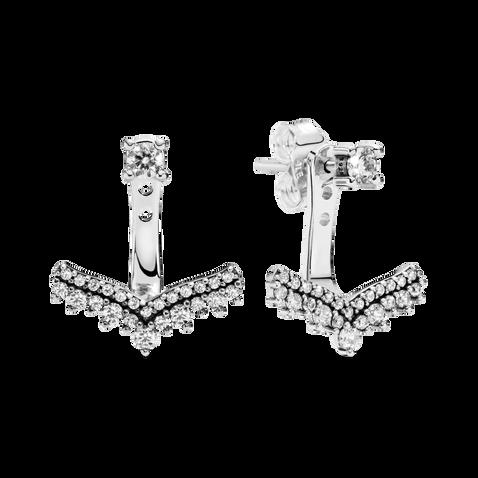 Princess Wishbone Stud Earrings