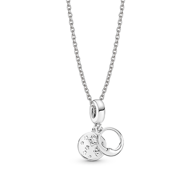 Moon and Stars Charm and Necklace Set