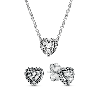 Sterling Silver Heart Timeless Elegance Gift Set