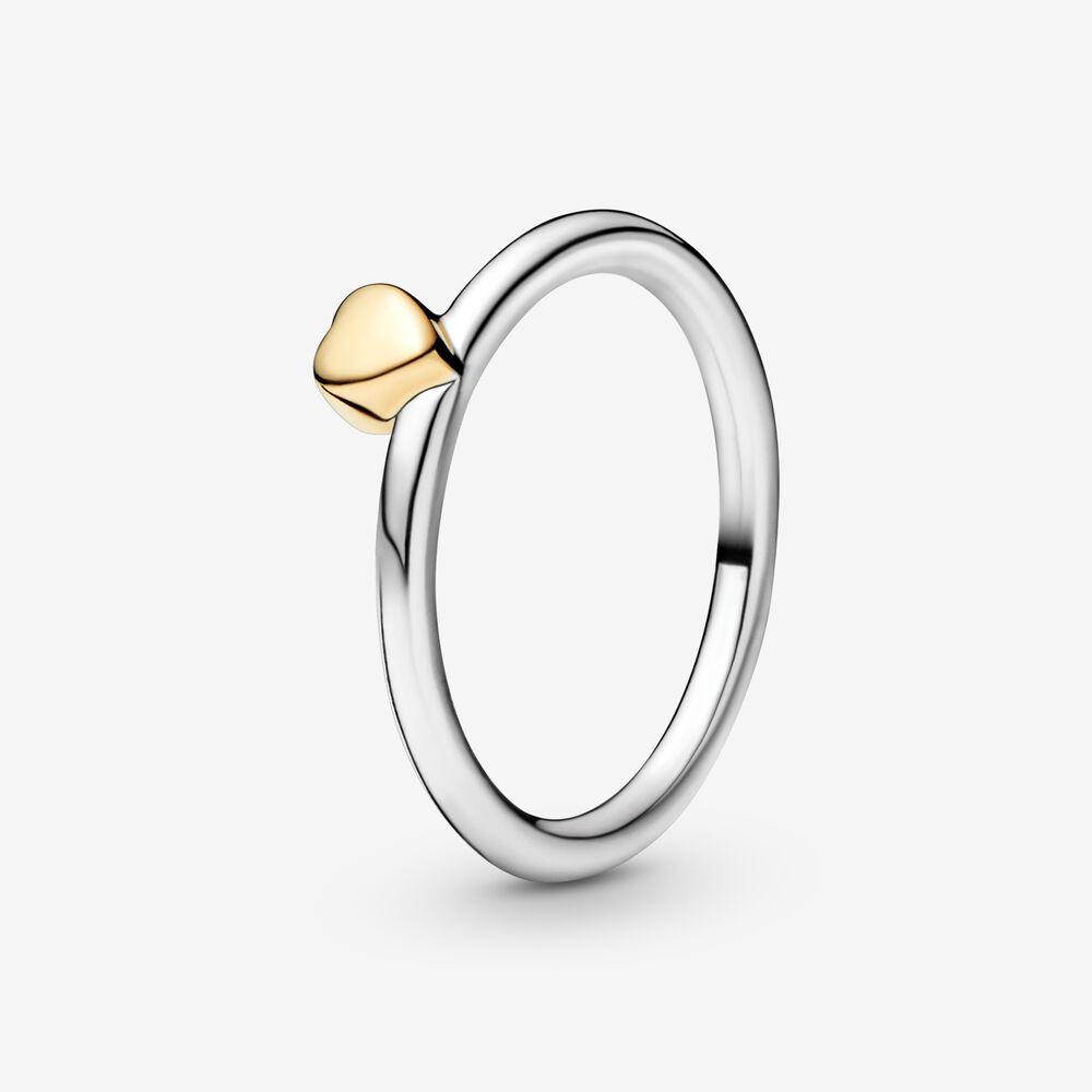 Polished Heart Puzzle Ring Pandora Au