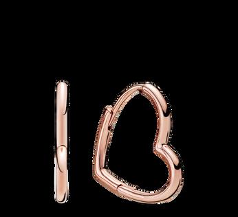 Pandora Rose Asymmetric Heart Hoop Earrings