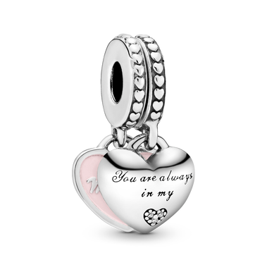 Mother & Daughter Hearts Dangle Charm