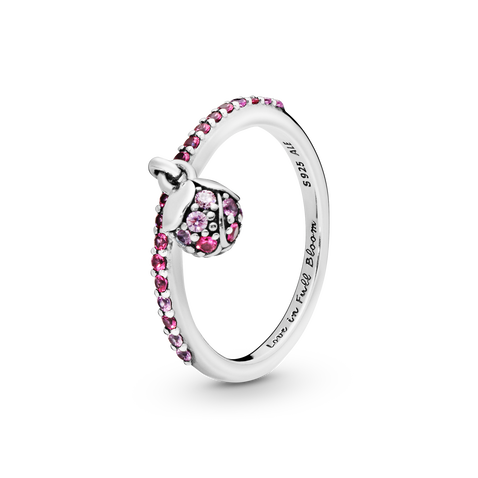 Pink Peach Blossom Flower Bud Ring