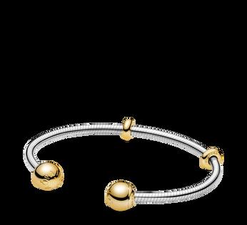 Pandora Shine Moments Snake Chain Style Open Bangle