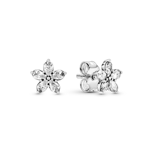 Sparkling Snowflake Stud Earrings