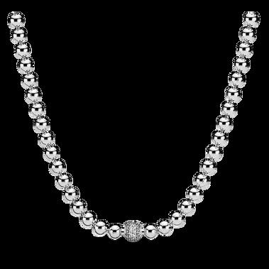 Beads & Pavé Necklace