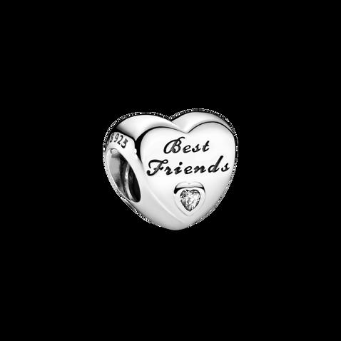 Polished Best Friends Heart Charm