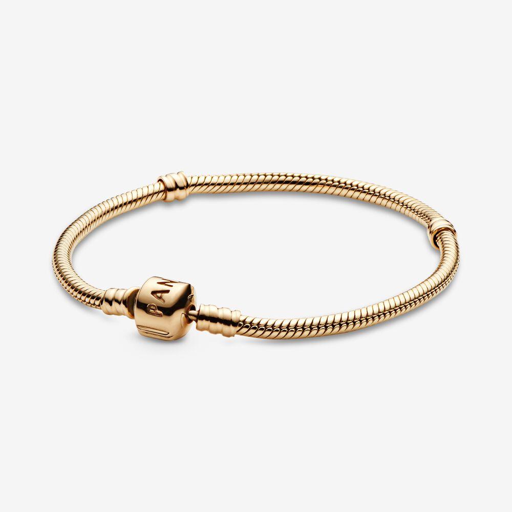 Moments Gold Clasp Bracelet   Pandora AU