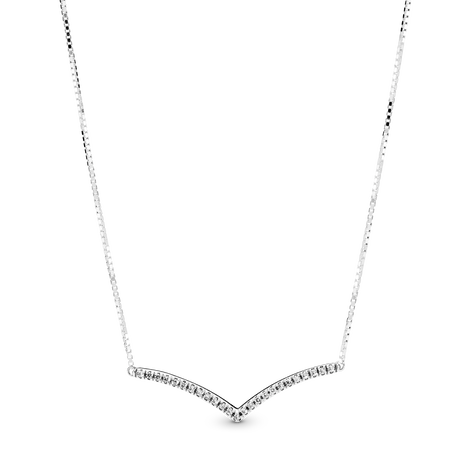 Sparkling Wishbone Necklace