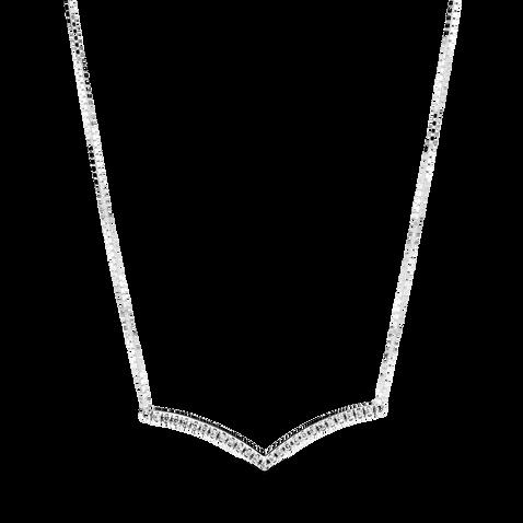 Sparkling Wishbone Necklace