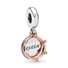 Pandora Rose Regal Queen Crown Hanging Charm