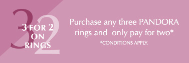 Buy three rings from PANDORA and only pay for 2